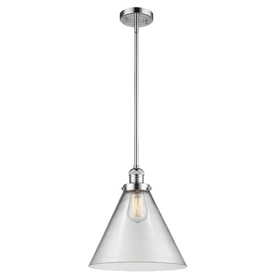 Elonso 1-Light Mini Pendant Finish: Polished Chrome, Shade Color: Clear