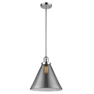 Elonso 1-Light Mini Pendant Finish: Polished Chrome, Shade Color: Smoked