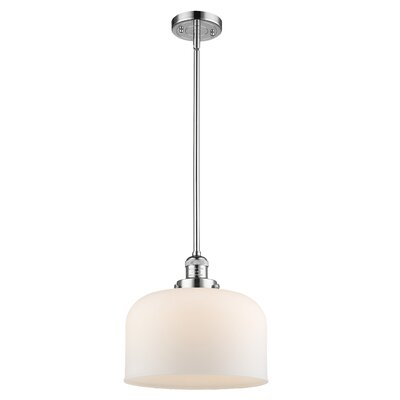 Che 1-Light Mini Pendant Finish: Polished Chrome, Shade Color: Matte White Cased, Size: 16 H x 12 W x 12 D