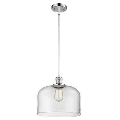 Che 1-Light Mini Pendant Finish: Polished Chrome, Shade Color: Clear, Size: 16 H x 12 W x 12 D
