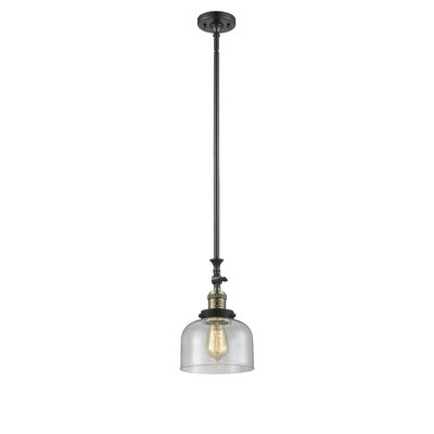 Estefan 1-Light Mini Pendant Finish: Black/Brushed Brass