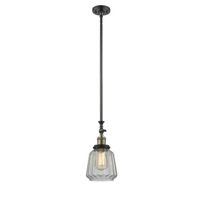 Vinson 1-Light Mini Pendant Finish: Black Brushed Brass