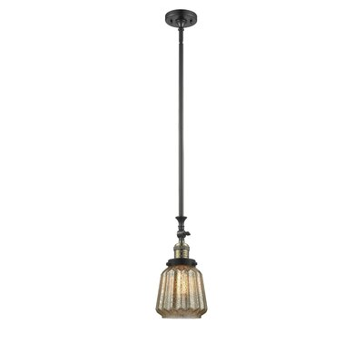Vinson 1-Light Mini Pendant Finish: Black/Brushed Brass