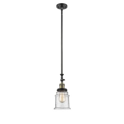 Greeley 1-Light Mini Pendant Finish: Black Brushed Brass