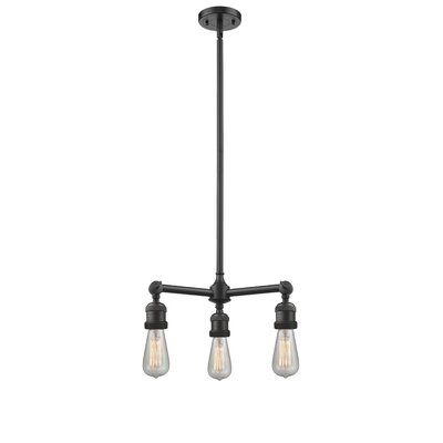 Bare Bulb 3-Light Kitchen Island Pendant Finish: Oil Rubbed Bronze