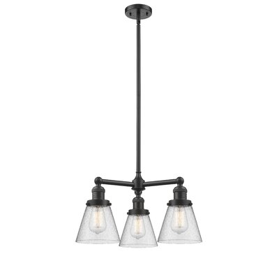 Adalwen Small Cone 3-Light Mini Chandelier Finish: Oil Rubbed Bronze