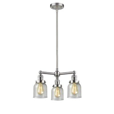 Adalbert Small Bell 3-Light Mini Chandelier Finish: Brushed Satin Nickel