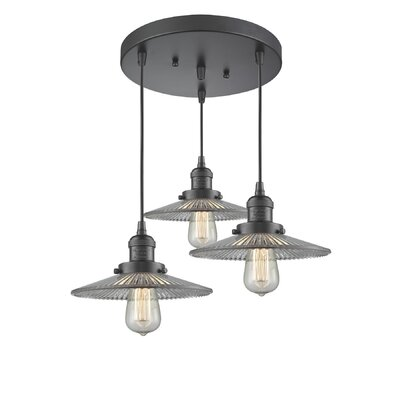 Holophone Glass 3-Light Pendant Finish: Oiled Rubbed Bronze