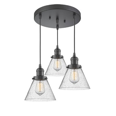 Boutte 3-Light Cluster Pendant Finish: Oiled Rubbed Bronze