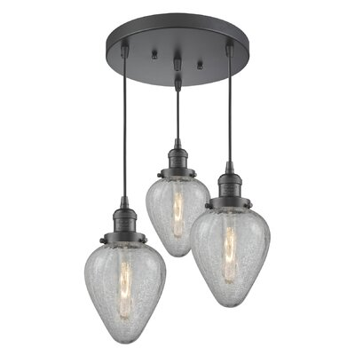 Bontrager 3-Light Cluster Pendant Finish: Oil Rubbed Bronze