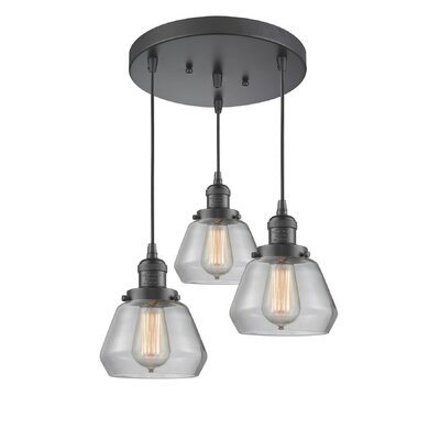 Dupree 3-Light Cluster Pendant Finish: Oil Rubbed Bronze