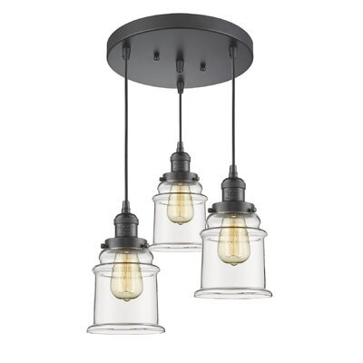 Evalyn 3-Light Cluster Pendant Finish: Oil Rubbed Bronze