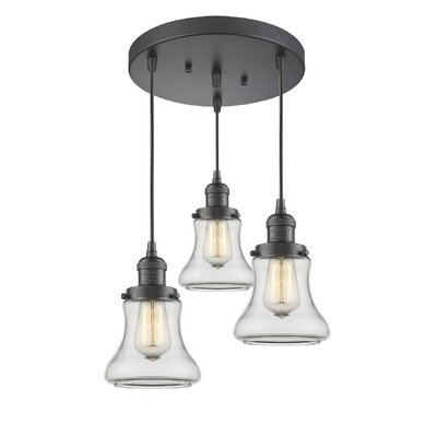Nardone 3-Light Cluster Pendant Color: Oil Rubbed Bronze