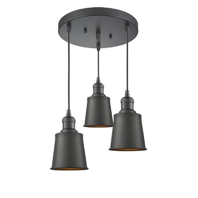 Carn 3-Light Cluster Pendant Finish: Oiled Rubbed Bronze