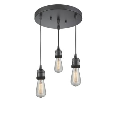 Bare Bulb 3-Light LED Cluster Pendant Finish: Oil Rubbed Bronze