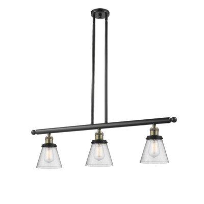 Alarica 3-Light Kitchen Island Pendant Finish: Black Brushed Brass
