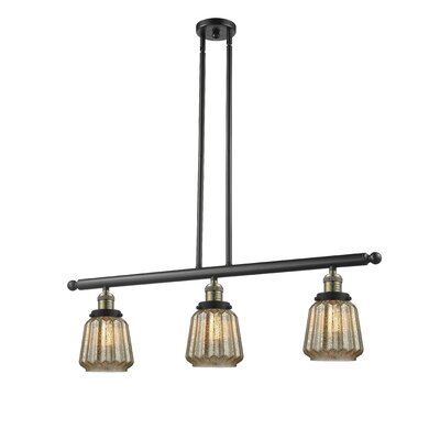 Vinson 3-Light Kitchen Island Pendant Finish: Black Brushed Brass