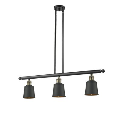 Carn 3-Light Kitchen Island Pendant Finish: Black/Brushed Brass