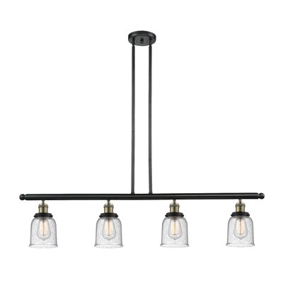 Aloysia 4-Light Kitchen Island Pendant Finish: Black/Brushed Brass