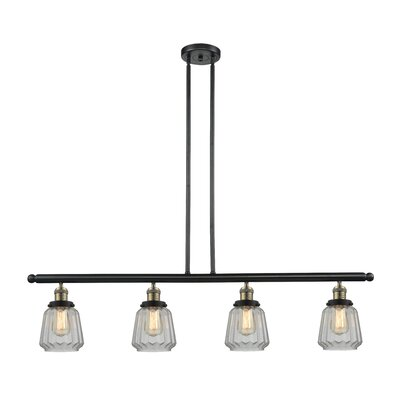 Vinson 4-Light Kitchen Island Pendant Finish: Black Brushed Brass
