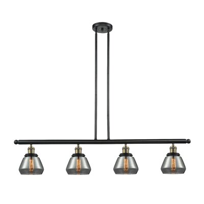 Dupree 4-Light Kitchen Island Pendant Finish: Black Brushed Brass