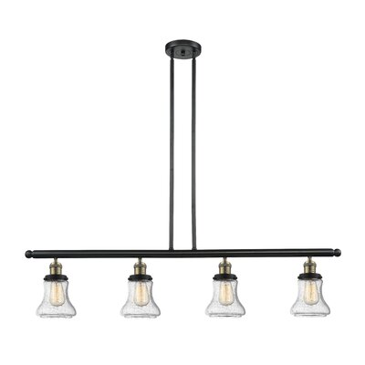 Nardone 4-Light Kitchen Island Pendant Color: Black Brushed Brass