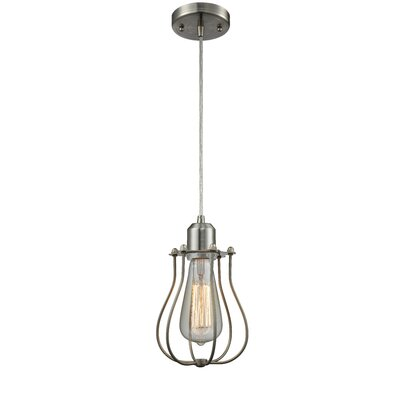 Desilets 1-Light Mini Pendant Finish: Brushed Satin Nickel