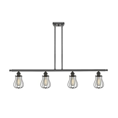 Amett 4-Light Kitchen Island Pendant Finish: Oil Rubbed Bronze