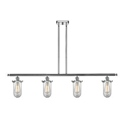 Narvaez 4-Light Kitchen Island Pendant Color: Polished Chrome, Shade Color: Clear