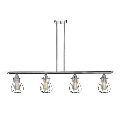 Amett 4-Light Kitchen Island Pendant Finish: Polished Chrome