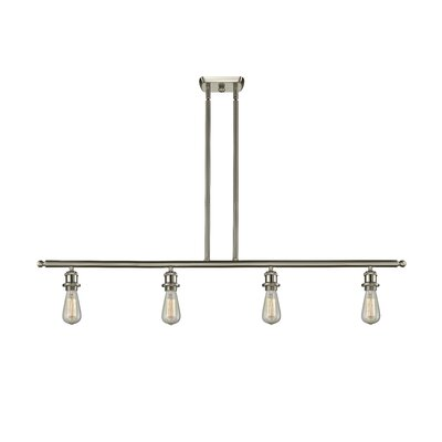 Briele 4-Light Kitchen Island Pendant Finish: Brushed Satin Nickel