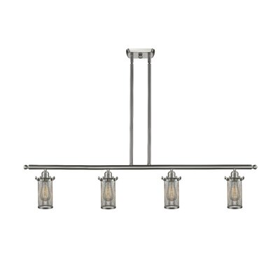 Amell 4-Light Kitchen Island Pendant Finish: Brushed Satin Nickel
