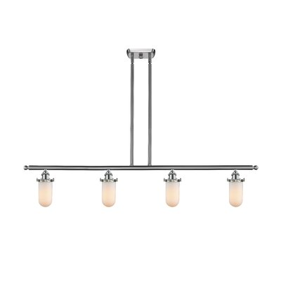 Narvaez 4-Light Kitchen Island Pendant Color: Brushed Satin Nickel, Shade Color: Matte White Cased