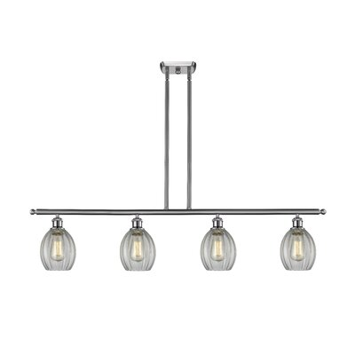 Raylene 4-Light Kitchen Island Pendant Finish: Brushed Satin Nickel