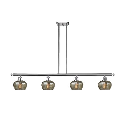 Dooling 4-Light Kitchen Island Pendant Finish: Brushed Satin Nickel