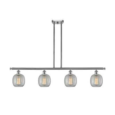 Raye 4-Light Kitchen Island Pendant Finish: Brushed Satin Nickel