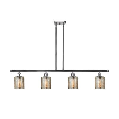 Inglestone Common 4-Light Kitchen Island Pendant Finish: Brushed Satin Nickel