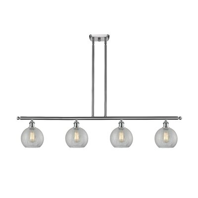 Garduno 4-Light Kitchen Island Pendant Finish: Brushed Satin Nickel