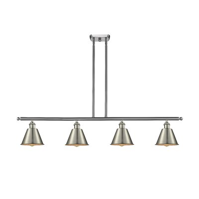 Nakayama 4-Light Kitchen Island Pendant Color: Brushed Satin Nickel