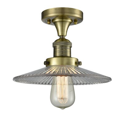 Katalina 1-Light Semi Flush Mount Fixture Finish: Antique Brass