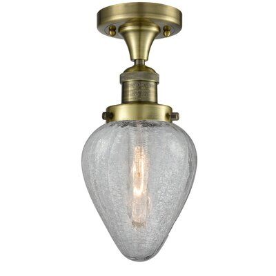Bontrager 1-Light Flush Mount Fixture Finish: Antique Brass