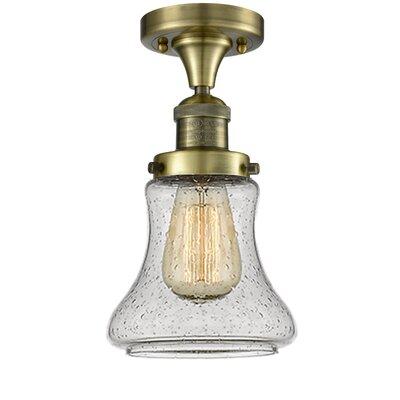 Nardone 1-Light Semi Flush Mount Fixture Color: Antique Brass
