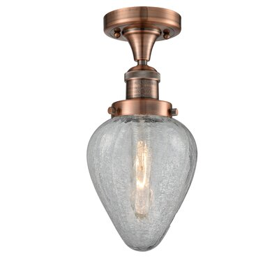 Bontrager 1-Light Flush Mount Fixture Finish: Antique Copper