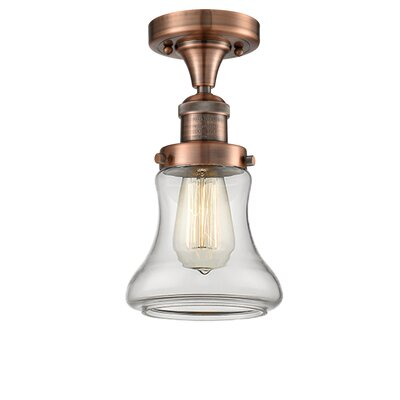 Nardone 1-Light Semi Flush Mount Fixture Color: Antique Copper