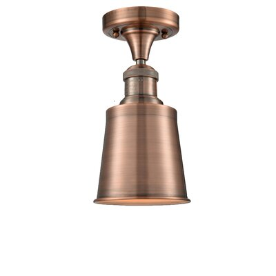 Carn 1-Light Semi Flush Mount Fixture Finish: Antique Copper