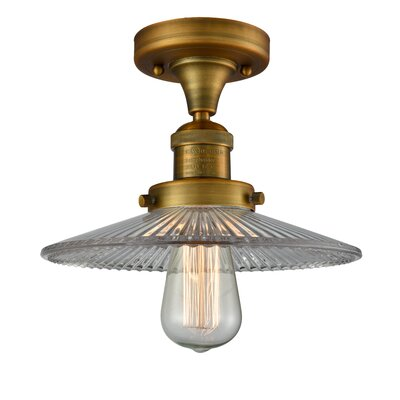 Katalina 1-Light Semi Flush Mount Fixture Finish: Brushed Brass