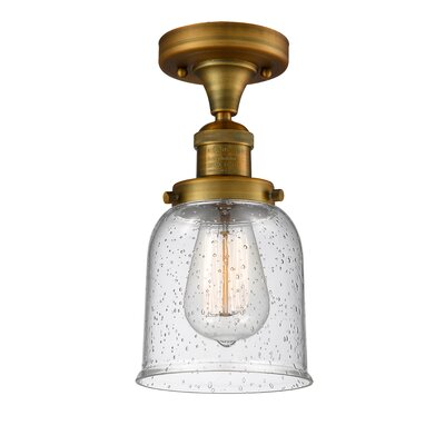 Arsen 1-Light Flush Mount Fixture Finish: Brushed Brass