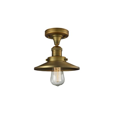 Ame 1-Light Semi Flush Mount Fixture Finish: Brushed Brass
