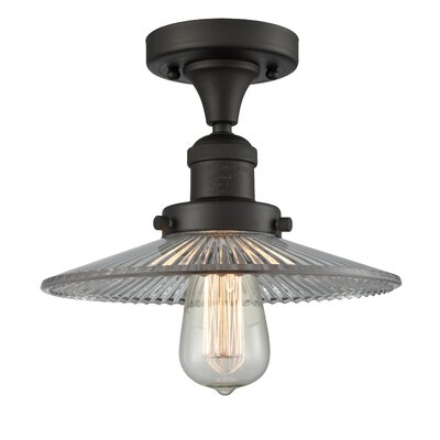 Katalina 1-Light Semi Flush Mount Fixture Finish: Oil Rubbed Bronze