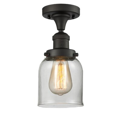 Arsen 1-Light Flush Mount Fixture Finish: Oil Rubbed Bronze, Shade Color: Clear